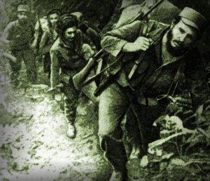 Fidel leading the revolutionaries